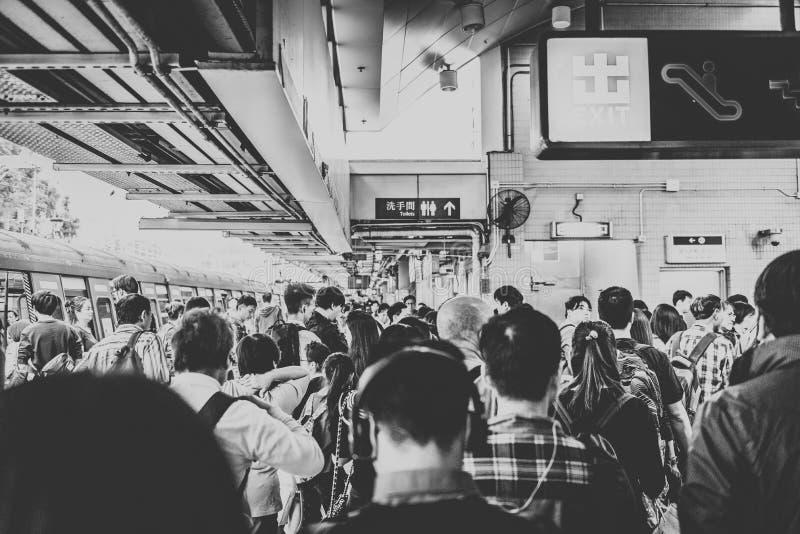 按喇叭戈公岛,2018年11月-地铁的人们 免版税库存照片