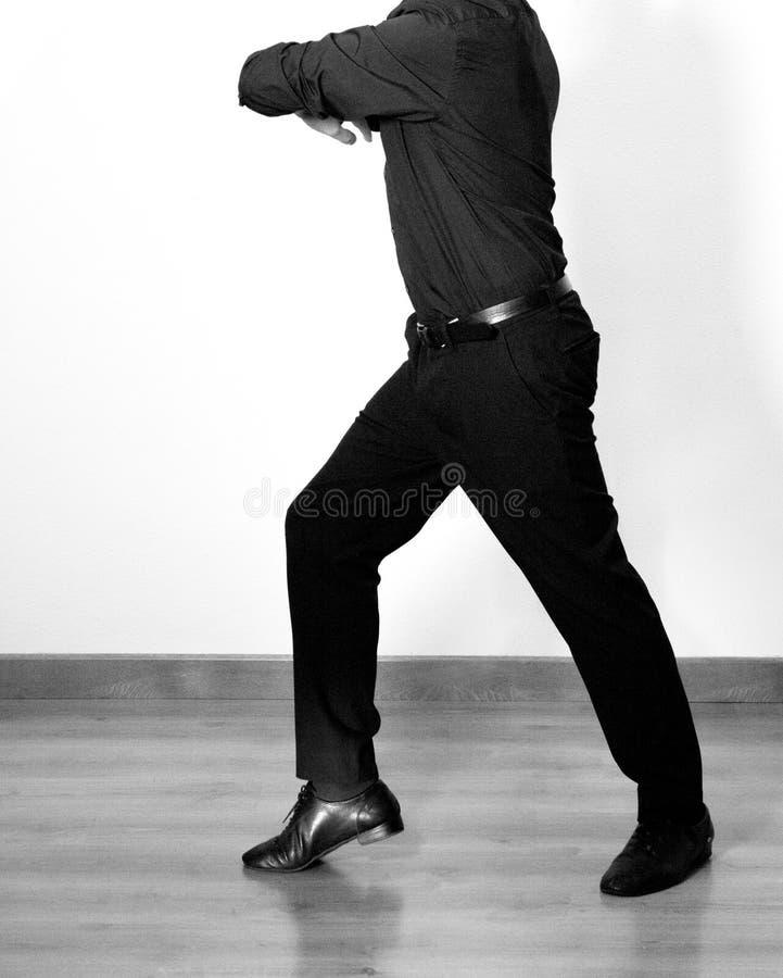 有拉丁舞蹈形象的舞蹈家 库存图片
