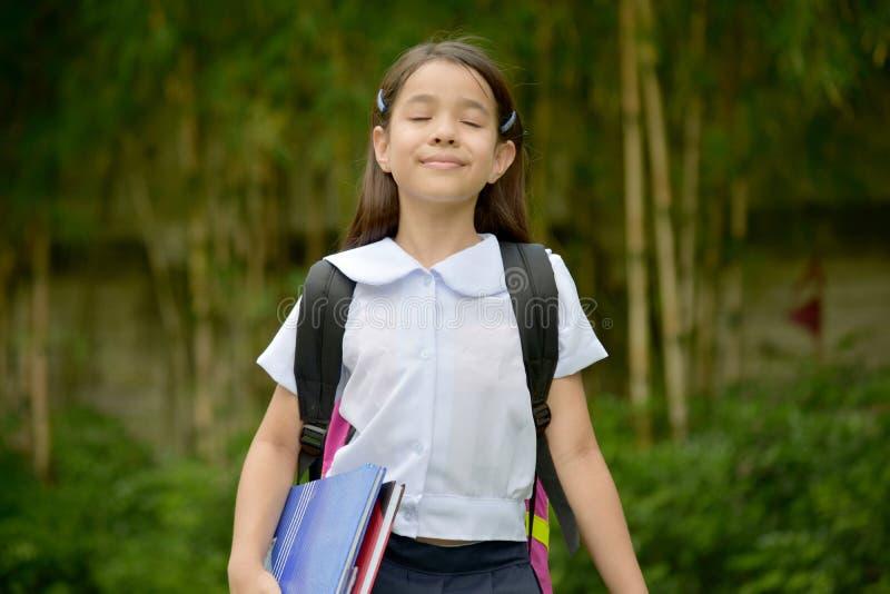 有眼睛结束的佩带的儿童女生一致 免版税库存照片