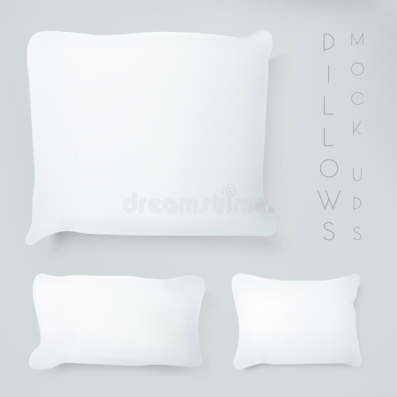 有真正的阴影的现实枕头 向量例证