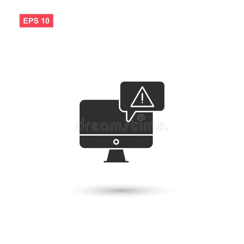 有警告的机敏的病毒显示器隔绝了7 库存例证