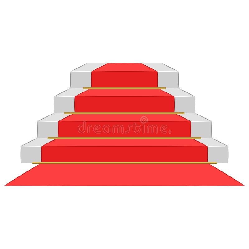 有隆重的,垫座台阶步仪式指挥台授予荣耀,导航等量3d大模型例证 向量例证