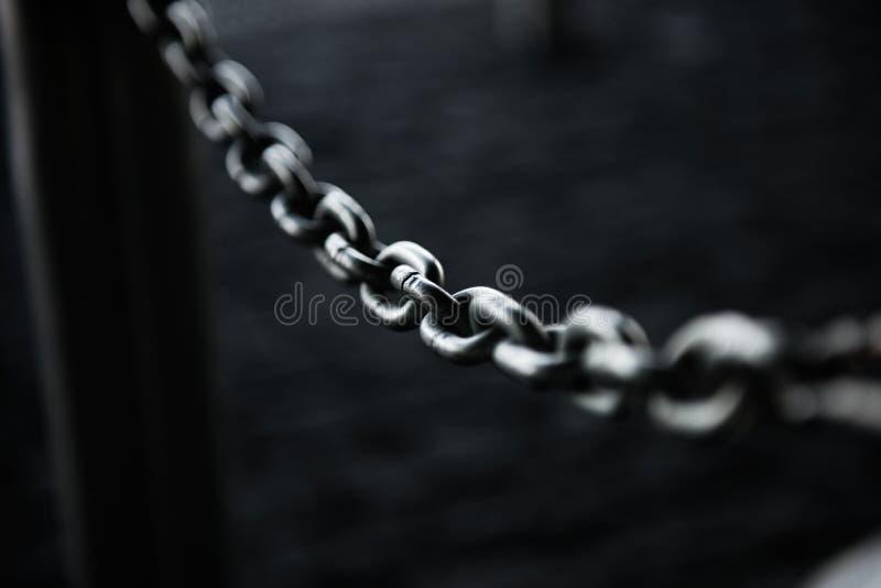 有链子的安全门体育比赛场所的 图库摄影