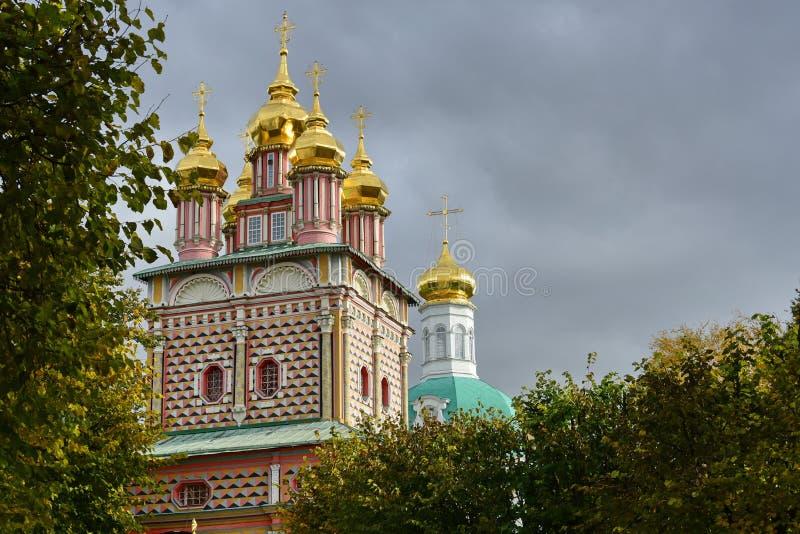 有Golden Dome的,莫斯科一个教会 俄国 免版税库存照片