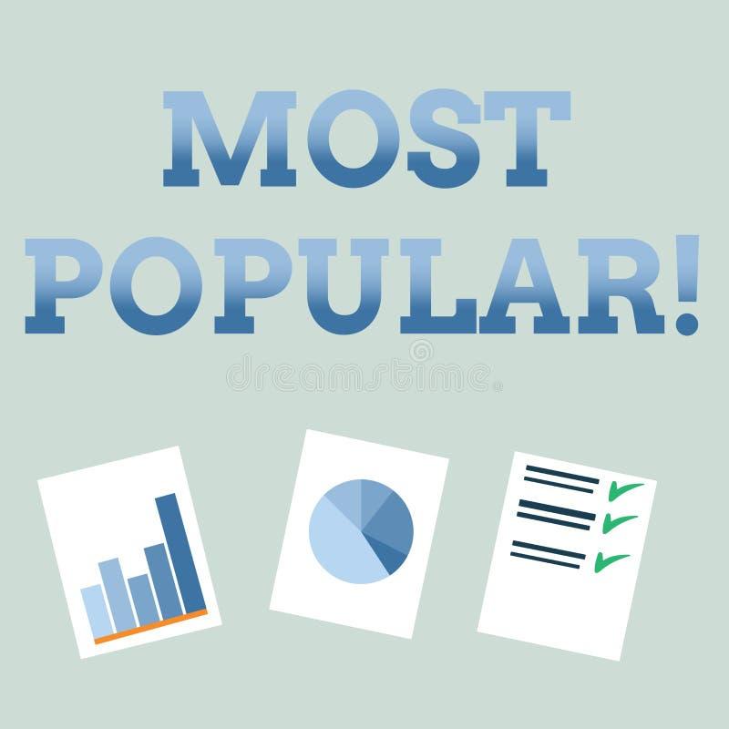 最普遍手写的文本 概念意思顶面规定值畅销书喜爱的产品或艺术家第1在等级 向量例证