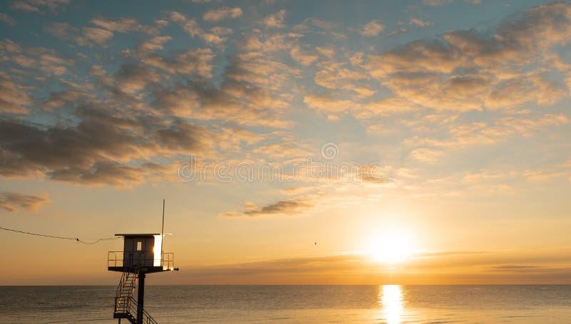 抢救塔-波儿地克的海乌瑟多姆岛海岛 图库摄影
