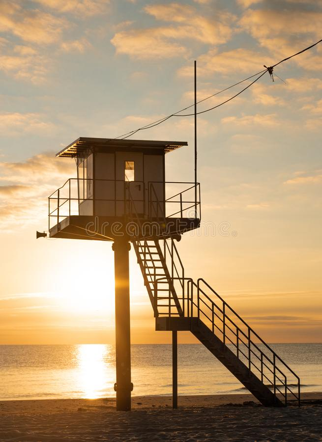 抢救塔-波儿地克的海乌瑟多姆岛海岛 免版税库存照片