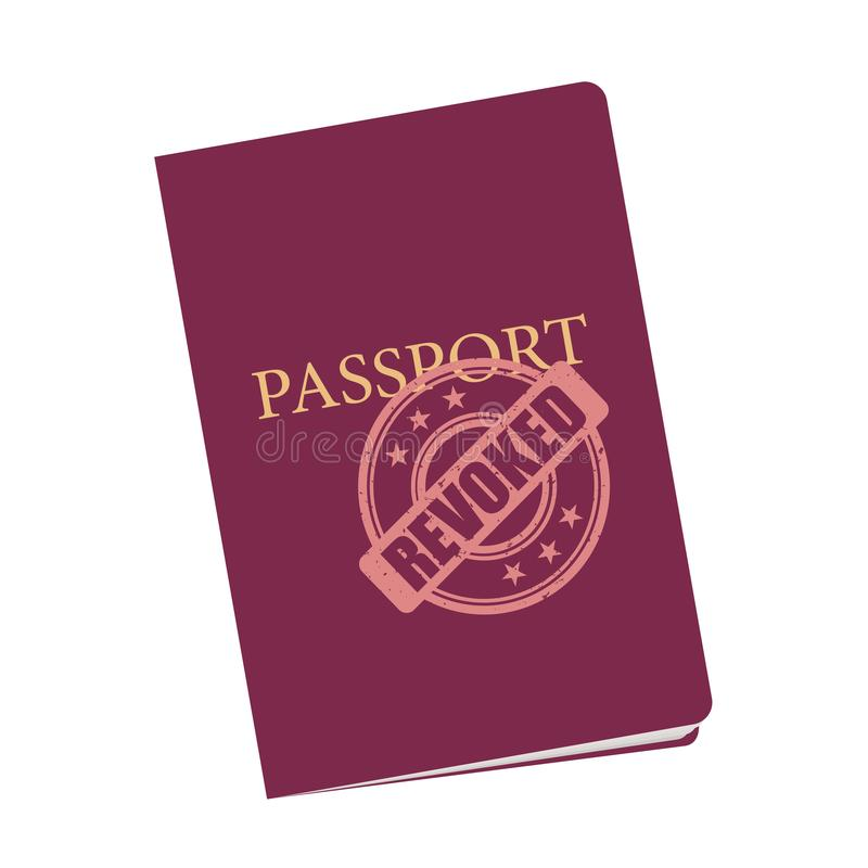 护照在废止和正式中止以后被取消并且被否认 向量例证