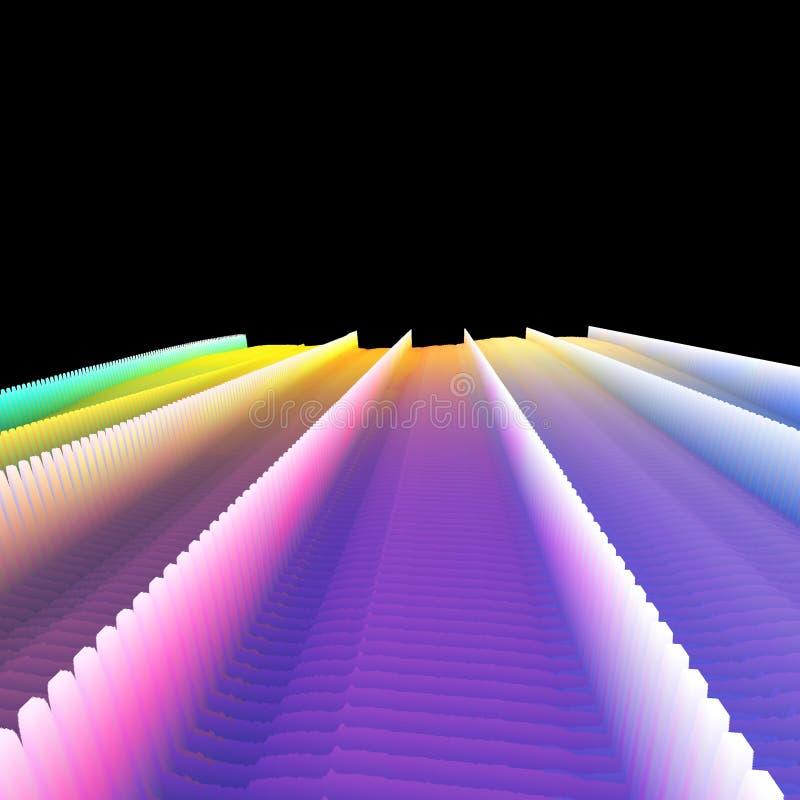 抽象五颜六色的海拔 库存例证