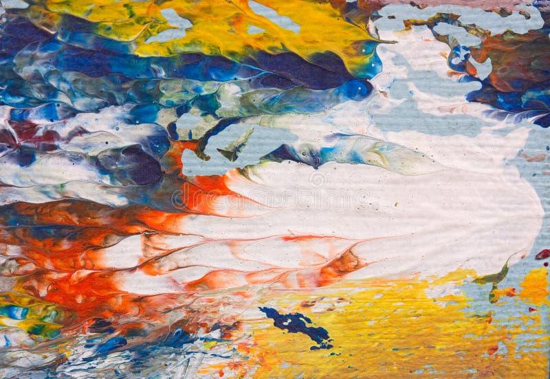 抽象印象主义者的艺术品细节  库存例证