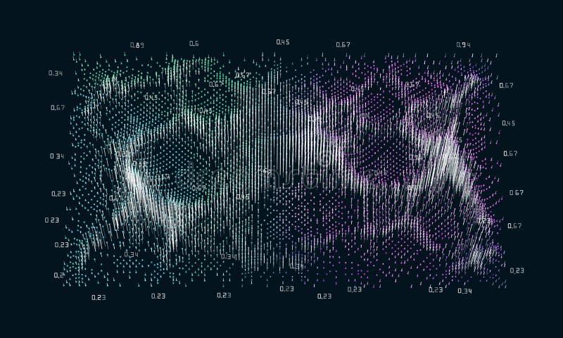 抽象大数据概念 未来派infographics设计 复杂 人脉或企业视觉信息逻辑分析方法 向量例证