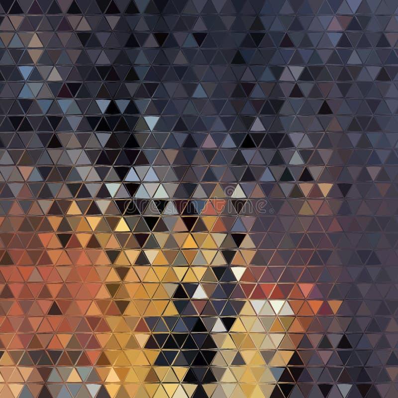 抽象多彩多姿的背景,三角纹理,数字例证 免版税库存照片
