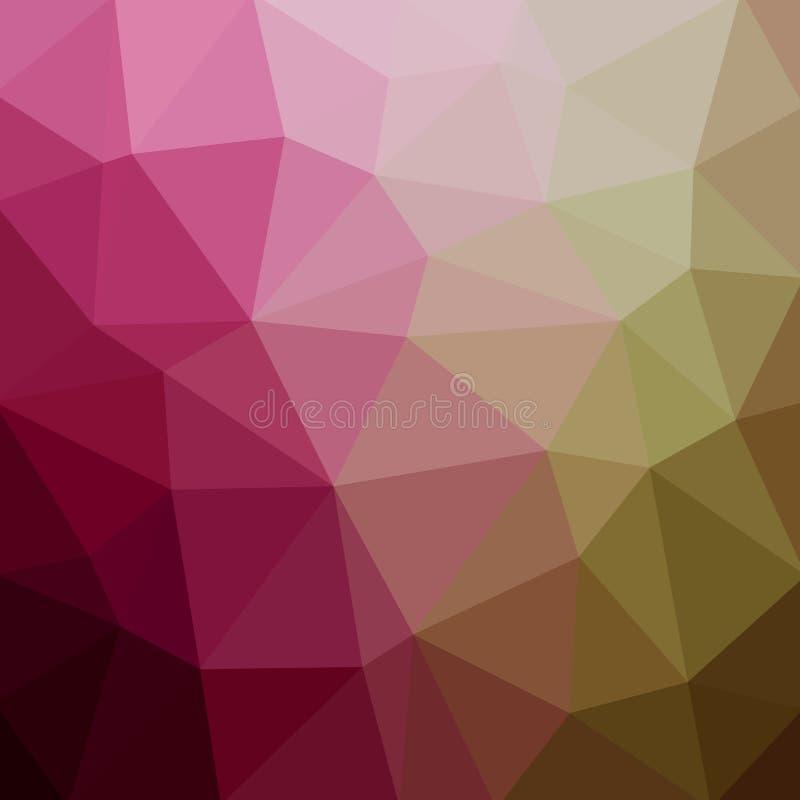 抽象多角形马赛克背景 也corel凹道例证向量 多色低多梯度背景 库存例证