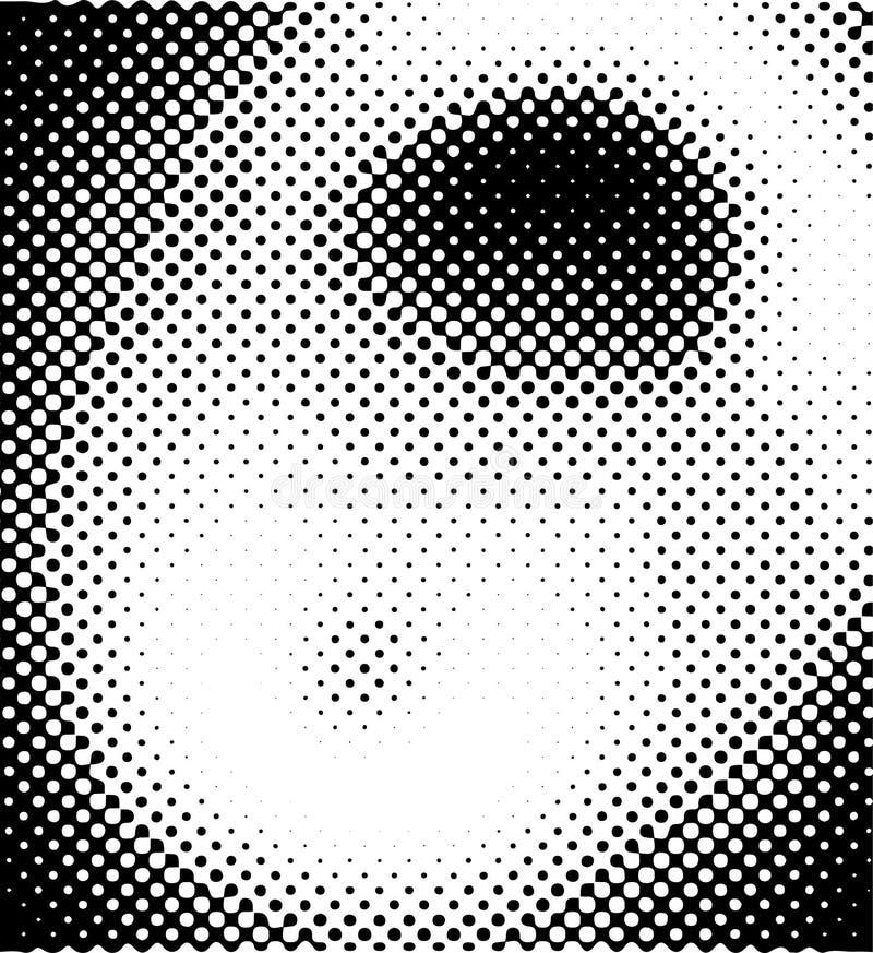 抽象圈子背景,半音光点图形,有机形式背景 库存例证