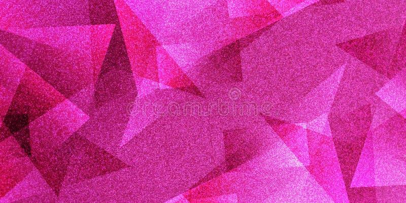 抽象桃红色背景被遮蔽的条纹图形和块在对角线与葡萄酒桃红色纹理 皇族释放例证