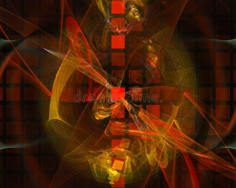 抽象数字分数维科学充满活力的想象力纹理概念能量幻想设计背景wallpapertemplatecurl 皇族释放例证