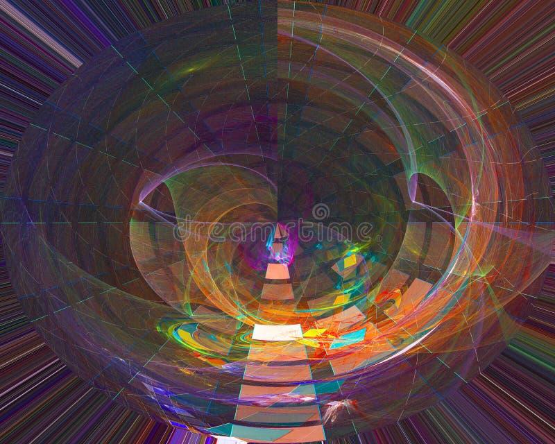 抽象数字分数维科学充满活力的纹理概念能量幻想设计背景wallpapertemplatecurl 皇族释放例证