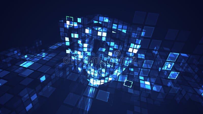 抽象数字网络盾保护安全概念 皇族释放例证