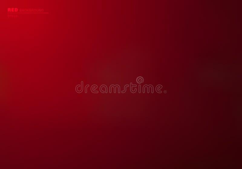 抽象红色梯度颜色背景和墙纸 您能为喜帖,华伦泰节日,海报,小册子,横幅使用 皇族释放例证