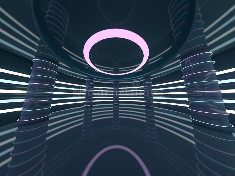 抽象现代建筑学背景 3d翻译 皇族释放例证