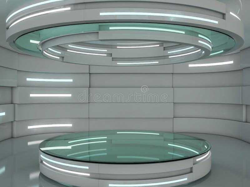 抽象现代建筑学背景 3d 向量例证
