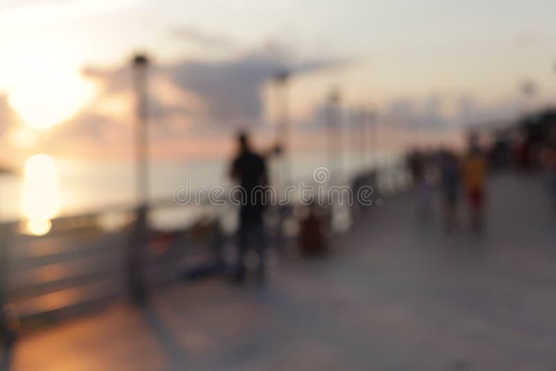 抽象热带沿海岸区光迷离眨眼睛背景 软绵绵地集中 库存照片