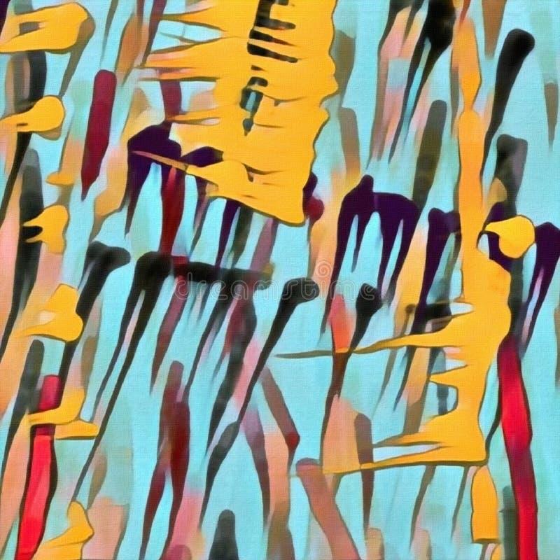 抽象画笔对跟踪的被绘的实际冲程纹理是 向量例证
