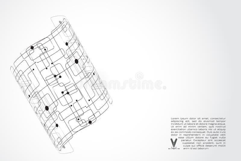 抽象背景技术 灰色对象圆柱形的球形 免版税库存图片