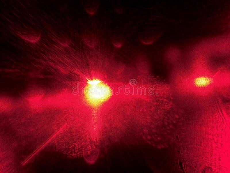 抽象背景红色 光明亮的闪光 晒裂 星系 星形 免版税图库摄影