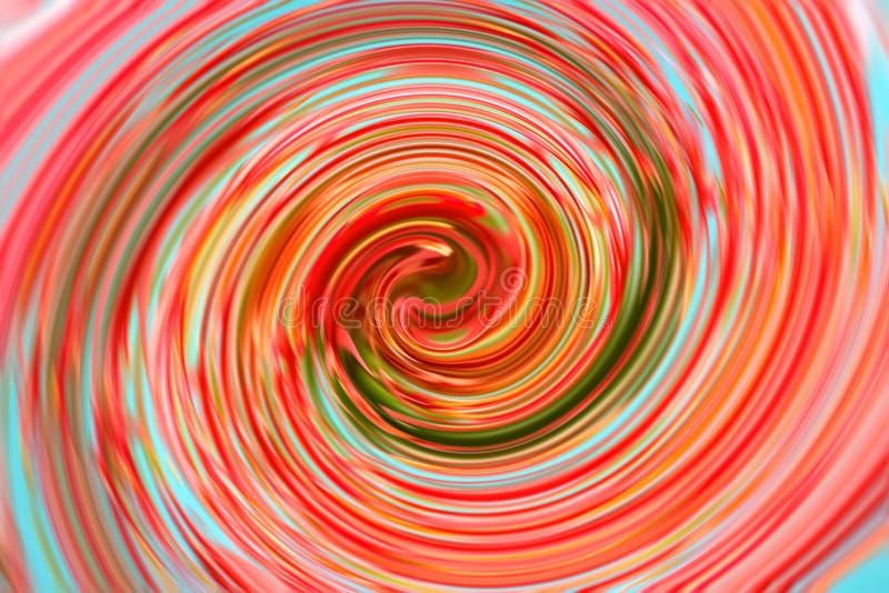 抽象背景的多彩多姿的转动作用 库存例证