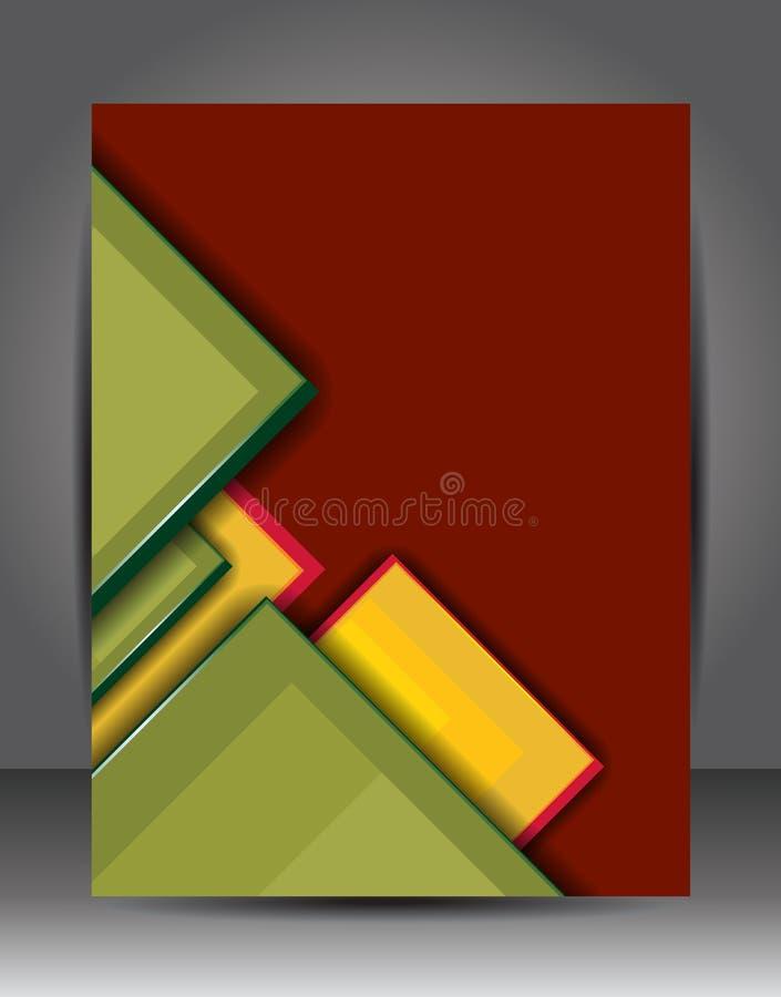 抽象背景 小册子或飞行物模板 图库摄影