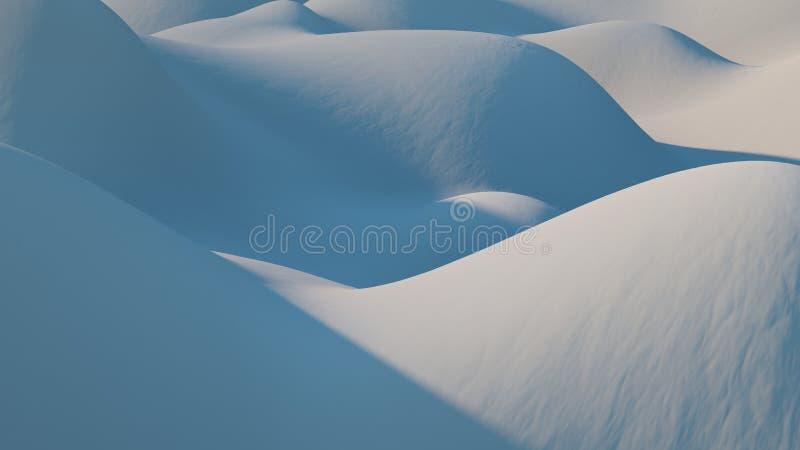 抽象蓝色背景 Snowly冬天山 库存照片