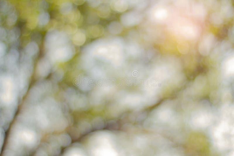 抽象蓝色Bokeh,一个摄影图象的out-of-focus区域的视觉质量,特别是如回报由一个特殊透镜 免版税库存照片