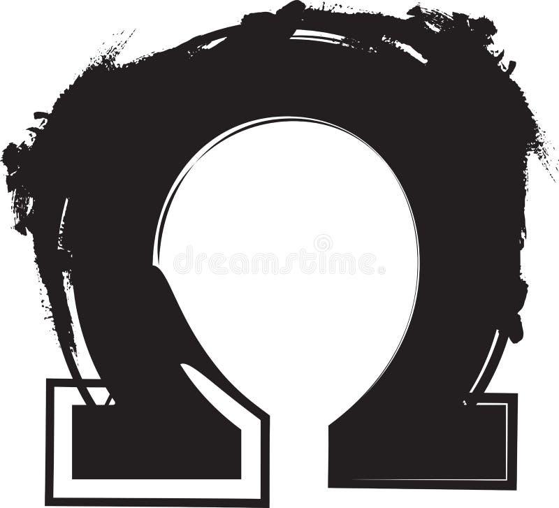 抽象Ω标志 库存例证