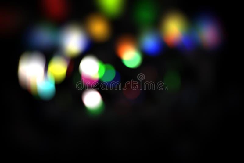 抽象bokeh背景,bokeh躺在了,被弄脏的光,五颜六色的bokeh例证 库存照片