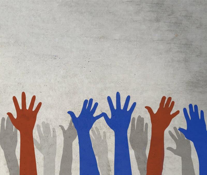 投票概念的被举的手 图库摄影