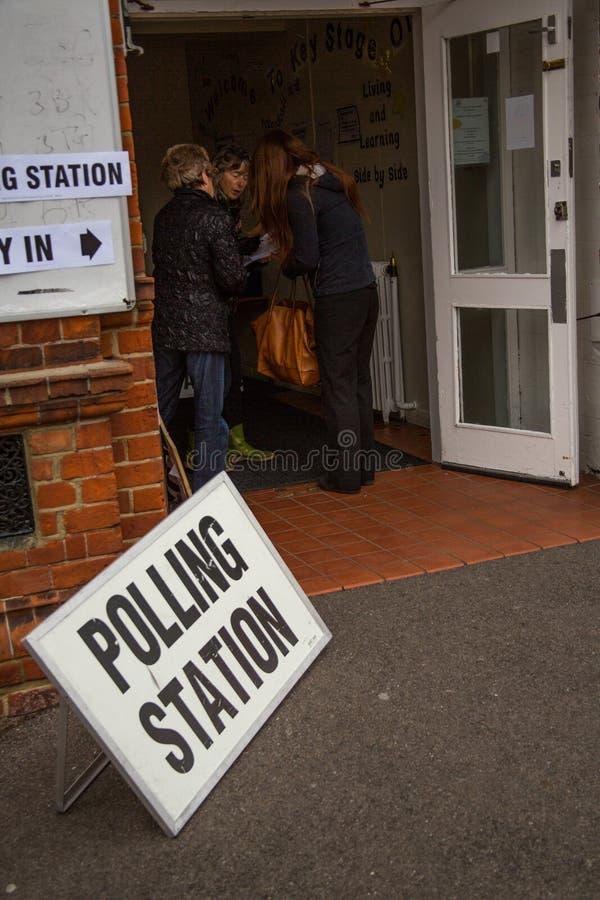 投票站在英国 库存图片