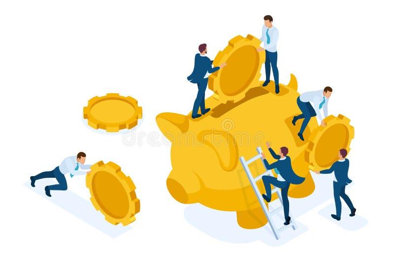 投资的等量概念在银行存款 皇族释放例证