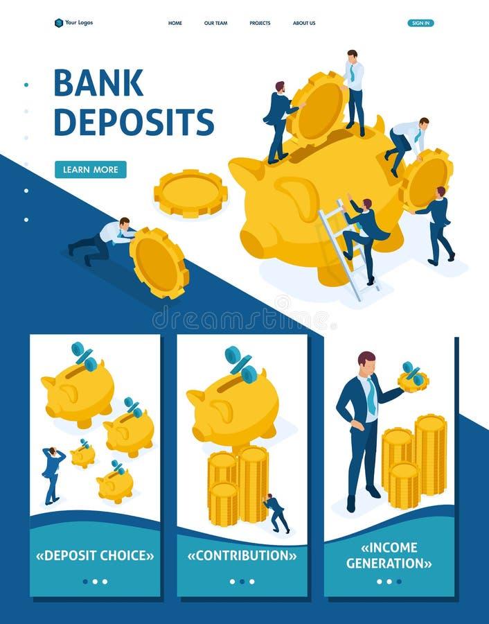 投资的等量概念在银行存款 向量例证