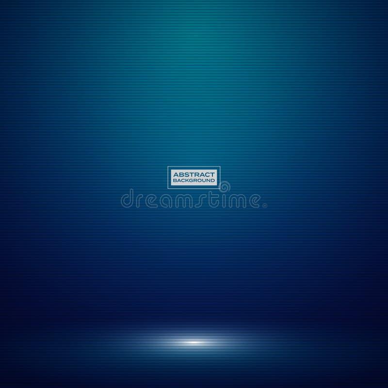 技术演播室大模型背景的抽象深蓝梯度颜色 装饰为广告,海报产品,展示,艺术品,高 库存例证