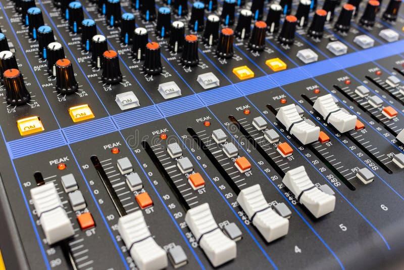控制搅拌机面板声音 免版税库存图片