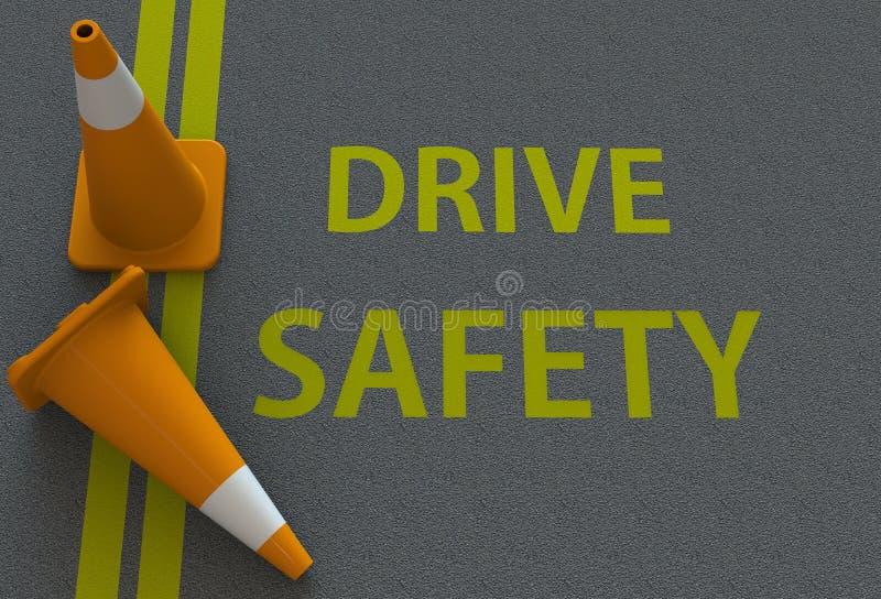 推进安全,在路的消息 免版税库存照片