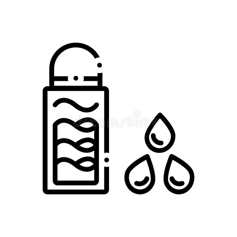 构成、去膜剂和skincare的黑线象 库存例证