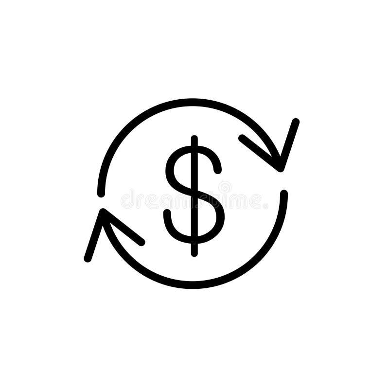 成本回收线象 向量例证