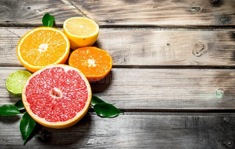 成熟柑橘片断  库存图片
