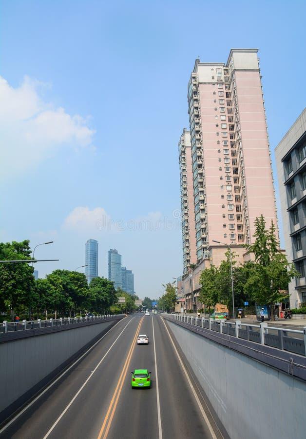 成都,中国街道  免版税图库摄影