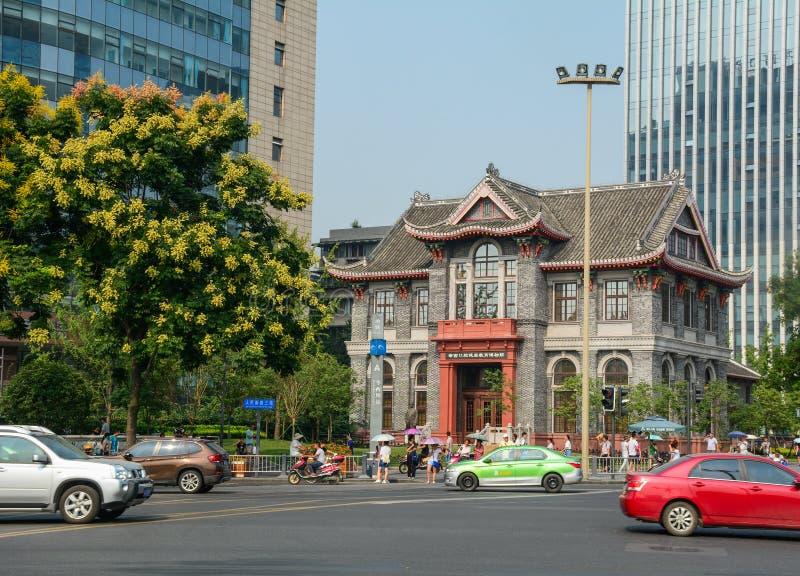 成都,中国街道  库存图片