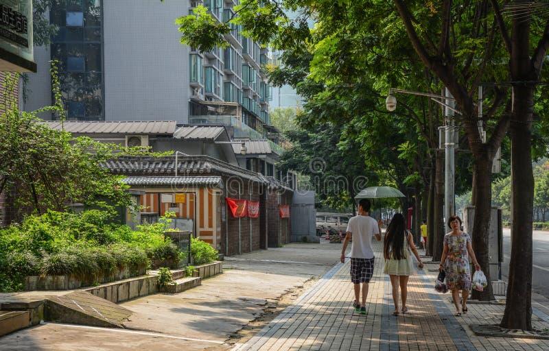 成都,中国街道  免版税库存图片