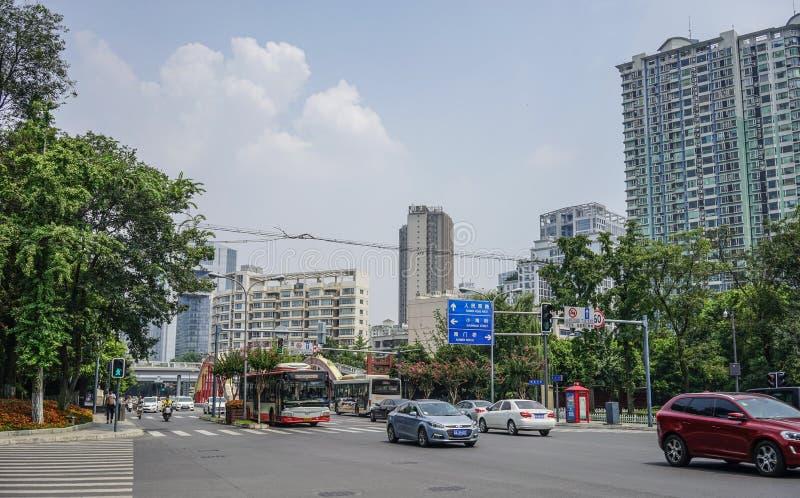 成都,中国街道  库存照片