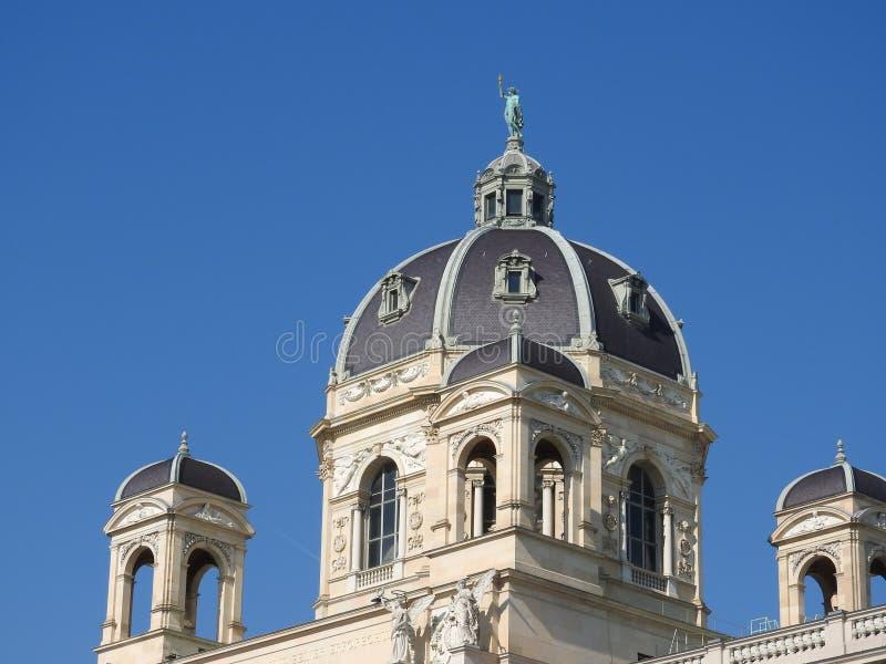 房子门面和纪念碑,维也纳,奥地利石建筑学  库存照片